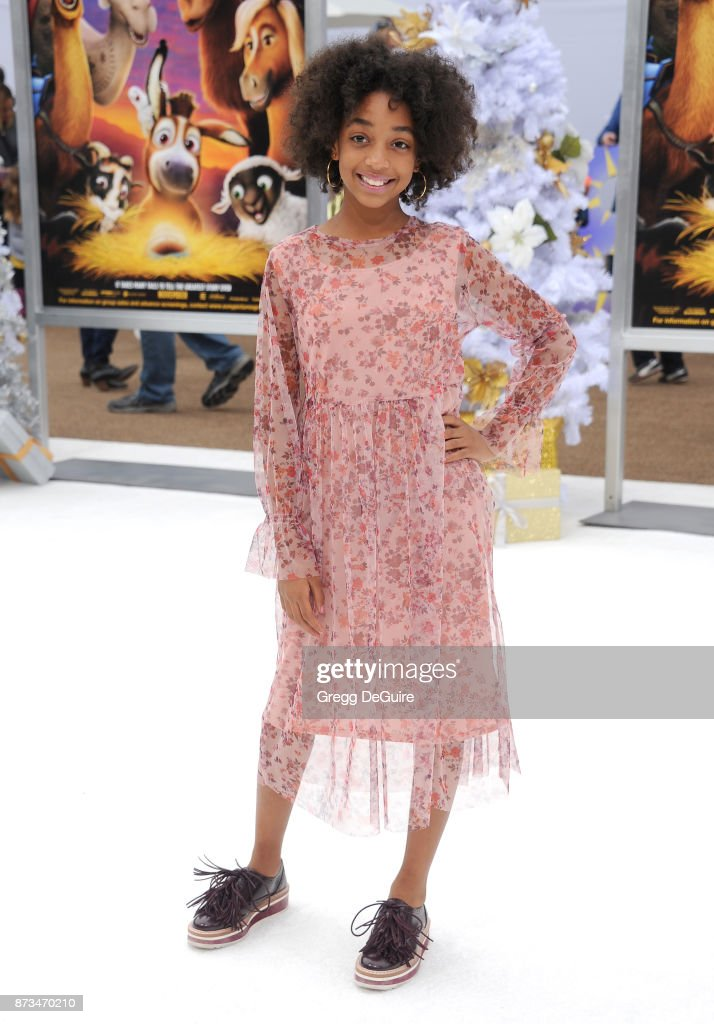 Eris Baker arrives at the premiere of Columbia Pictures' 'The Star' at Regency Village Theatre on November 12, 2017 in Westwood, California.