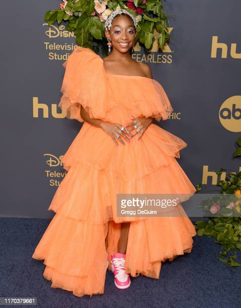 Eris Baker arrives at the Walt Disney Television Emmy Party on September 22 2019 in Los Angeles California