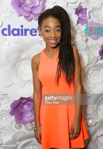 Eris Baker attends Claire's Dream Big Awards at the Beverly Hills Hotel on April 12 2018 in Beverly Hills California