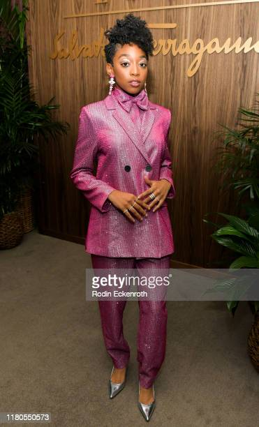 Eris Baker attends ELLE x Ferragamo Hollywood Rising Party at Sunset Tower on October 11 2019 in Los Angeles California