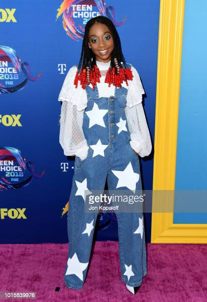 Eris Baker attends FOX's Teen Choice Awards at The Forum on August 12 2018 in Inglewood California