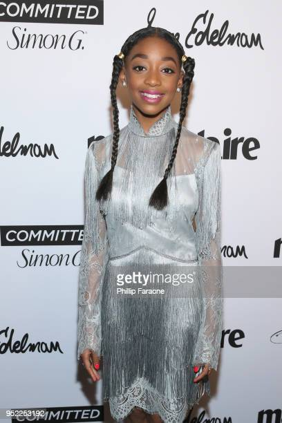 Eris Baker attends Marie Claire Celebrates Fifth Annual 'Fresh Faces' in Hollywood with SheaMoisture Simon G and Sam Edelman at Poppy on April 27...