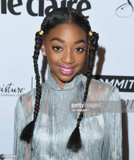 Eris Baker attends Marie Claire's 5th Annual 'Fresh Faces' at Poppy on April 27 2018 in Los Angeles California