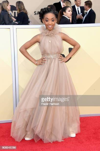 Eris Baker attends the 24th Annual Screen ActorsGuild Awards at The Shrine Auditorium on January 21 2018 in Los Angeles California