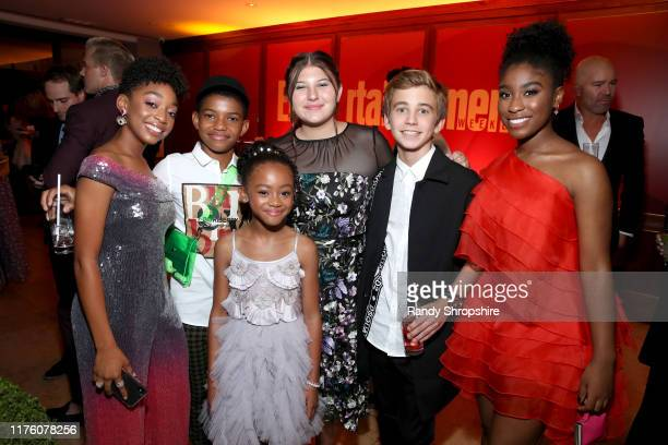 Eris Baker Lonnie Chavis Faithe Herman Mackenzie Hancsicsak Parker Bates and Lyric Ross attend the 2019 PreEmmy Party hosted by Entertainment Weekly...