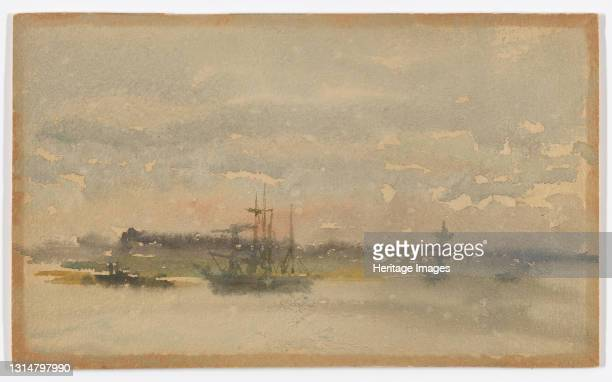 Erith - Evening, 1881-1883. Artist James Abbott McNeill Whistler.
