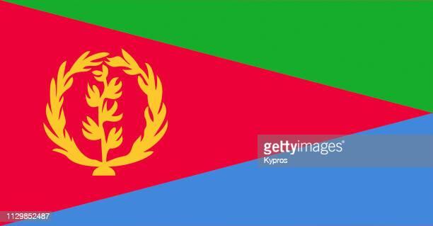 eritrea flag - eritrea stock-fotos und bilder