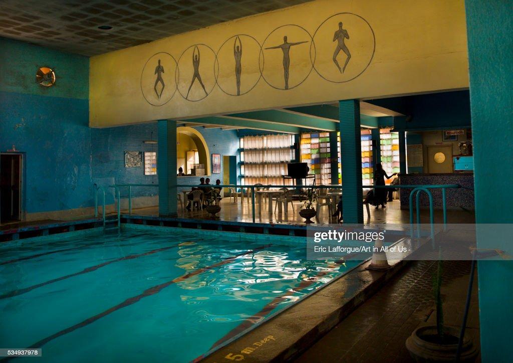 Eritrea, Horn Of Africa, Asmara, Old Italian Art Deco Swimming Pool