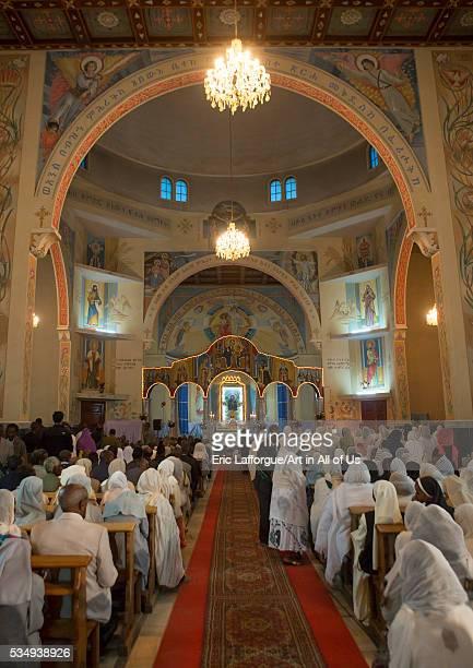Eritrea Horn Of Africa Asmara people praying in a church