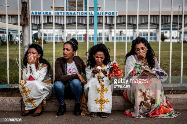 TOPSHOT Eritrean women belonging to the same family get emotional after being reunited with some other family members for the first time in more than...