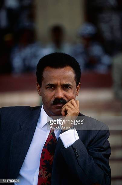 Eritrea's temporary government general secretary Mr Isaias Afewerki during the celebration of the country's first independence anniversary which took...