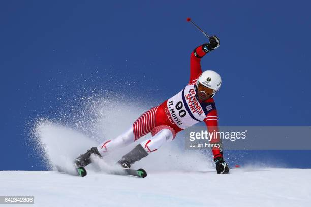 Erjon Tola of Albania competes in the Men's Giant Slalom during the FIS Alpine World Ski Championships on February 17 2017 in St Moritz Switzerland
