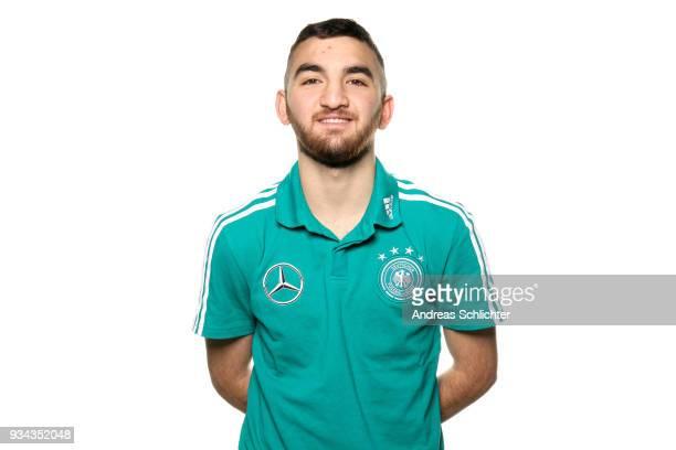 Erkan Eyibil during the U17 Germany Team Presentation on March 19 2018 in Frankfurt am Main Germany