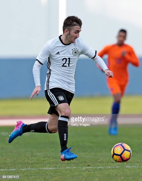 Erkan Eyibil of Germany U16 during the UEFA Development Tournament Match between Germany U16 and Netherlands U16 on February 9 2017 in Vila Real...
