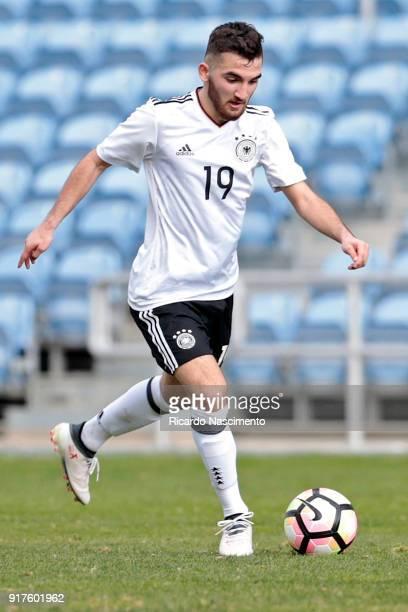 Erkan Eyibil of Germany U17 during U17Juniors Algarve Cup match between U17 Germany and U17 England at Algarve Stadium on February 11 2018 in Faro...