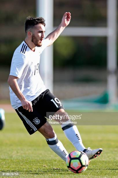 Erkan Eyibil of Germany U17 during U17Juniors Algarve Cup match between U17 Portugal and U17 Germany at Bela Vista Stadium on February 13 2018 in...