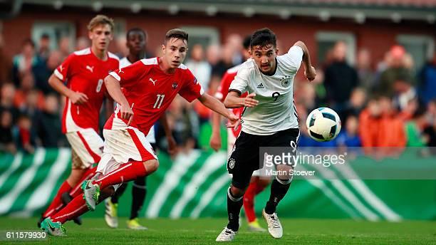Erkan Eyibil of U16 Germany plays the ballduring the match between U16 Germany v U16 Austria on September 30 2016 in Sportanlage In der Ahe Rotenburg...
