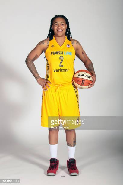 Erlana Larkins of the Indiana Fever poses for a portrait during Media Day at Bankers Life Fieldhouse on May 9 2017 in Indianapolis Indiana NOTE TO...