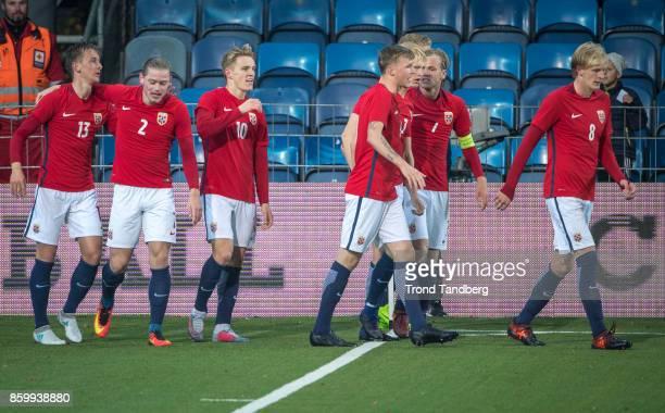 Erlend Reitan Julian Ryerson Martin Odegaard Birk Risa Andreas HancheOlsen Iver Fossum Morten Thorsby of Norway during the U21 FIFA 2018 World Cup...