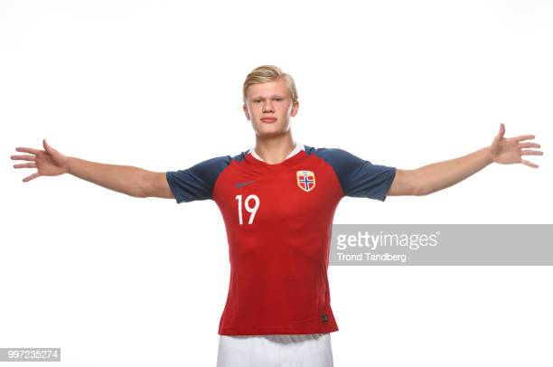 Erling Braut Haaland of Norway during G19 Men Photocall at Thon Arena on July 12 2018 in Lillestrom Norway
