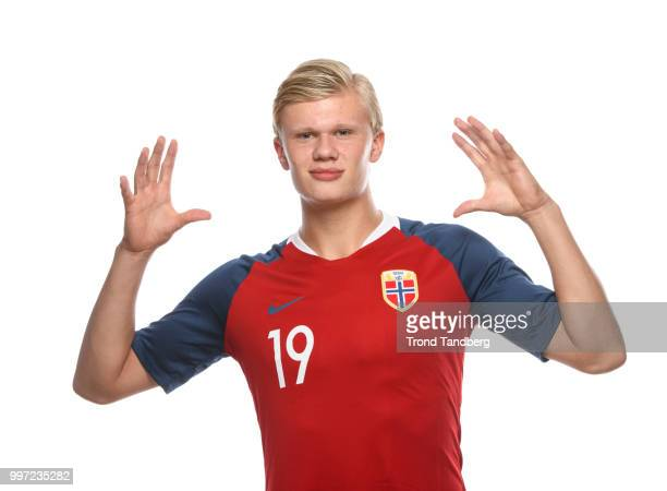 Erling Braut Haaland of Norway during G19 Men Photocall at Thon Arena on July 12, 2018 in Lillestrom, Norway.