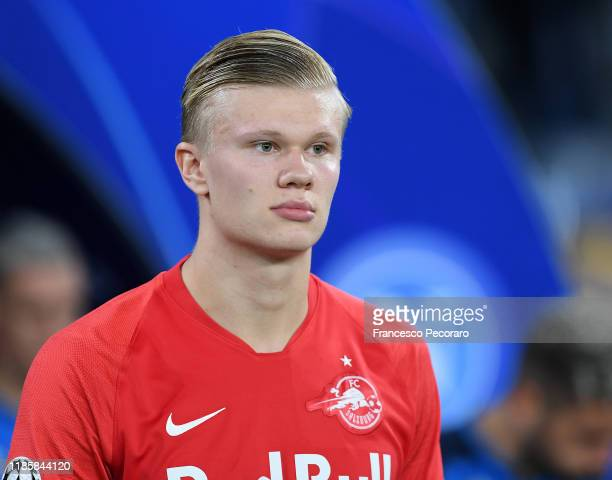 Erling Braut Haaland of RB Salzburg during the UEFA Champions League group E match between SSC Napoli and RB Salzburg at Stadio San Paolo on November...