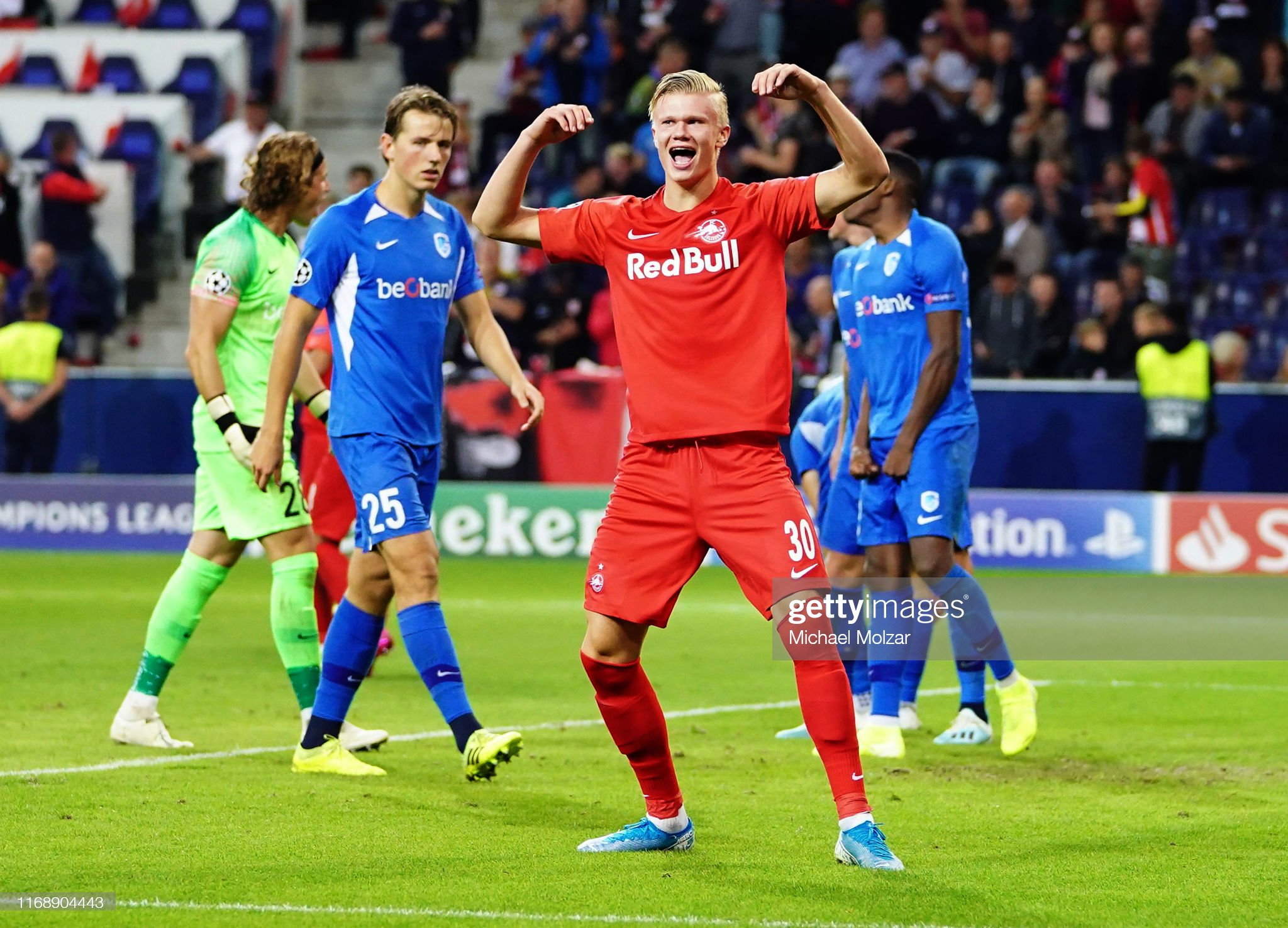 RB Salzburg v KRC Genk: Group E - UEFA Champions League : News Photo