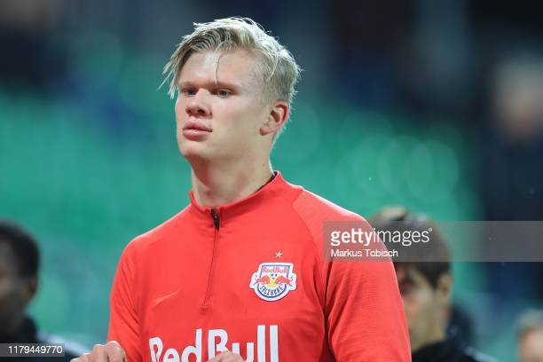 Erling Braut Haaland of Salzburg during the tipico Bundesliga match between SV Mattersburg and FC Red Bull Salzburg at Pappelstadion on November 2...