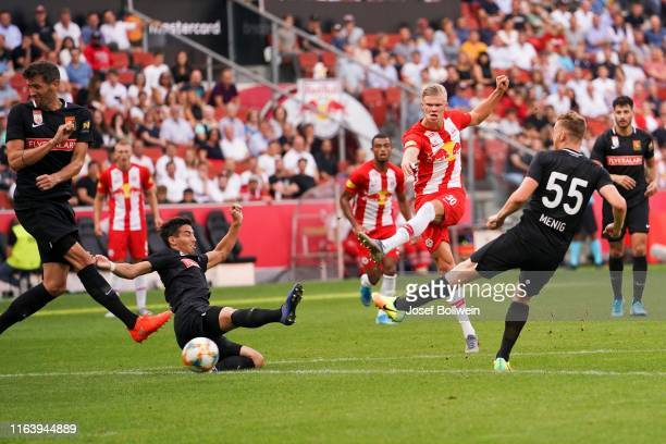 Erling Braut Haland of RB Salzburg during the tipico Bundesliga match between FC Red Bull Salzburg and FC Flyeralarm Admira at Red Bull Arena on...
