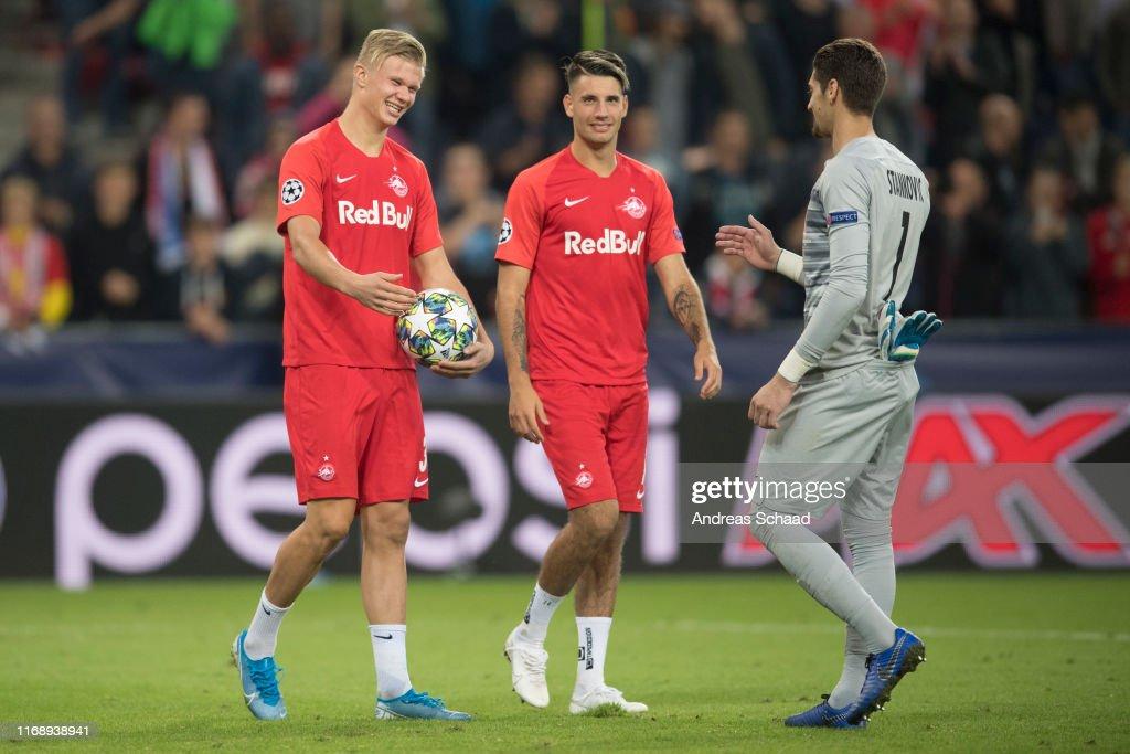FC Salzburg vs KRC Genk  - Champions League Group E : News Photo