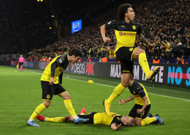 DEU: Borussia Dortmund v Paris Saint-Germain - UEFA Champions League Round of 16: First Leg