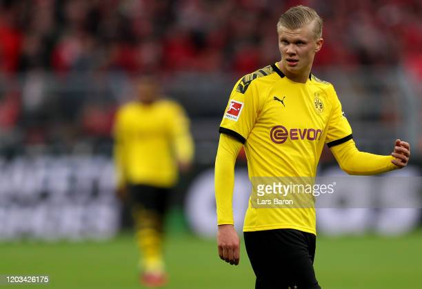 Erling Haaland of Dortmund is seen during the Bundesliga match between Borussia Dortmund and 1 FC Union Berlin at Signal Iduna Park on February 01...
