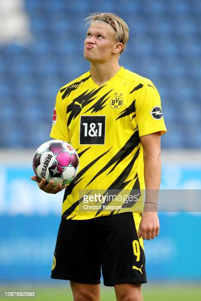 Erling Haaland of Dortmund looks dejected during the match between Borussia Dortmund and Feyenoord Rotterdam of Schauinsland-Reisen Cup der...
