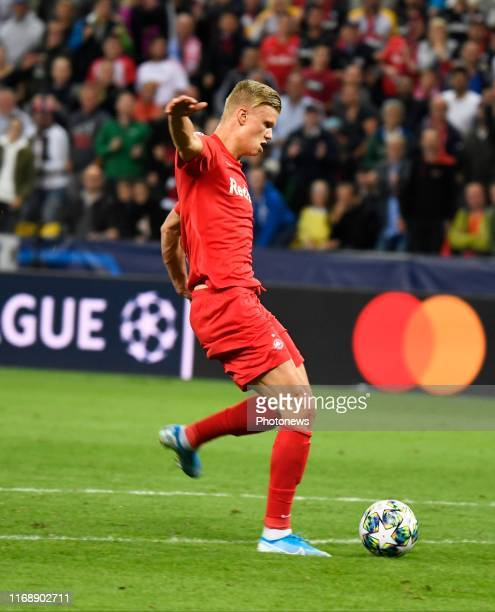 Erling Haland of FC Salzburg pictured during Champions League group E match between KRC Genk and FC Salzburg on September 17 2019 in Salzburg Austria