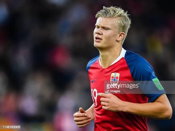 Erling Haland of Norway U20 during the FIFA U-20 World Cup Poland 2019 group C match between Uruguay U20 v Norway U20 at Lodz Stadium on May 24, 2019...