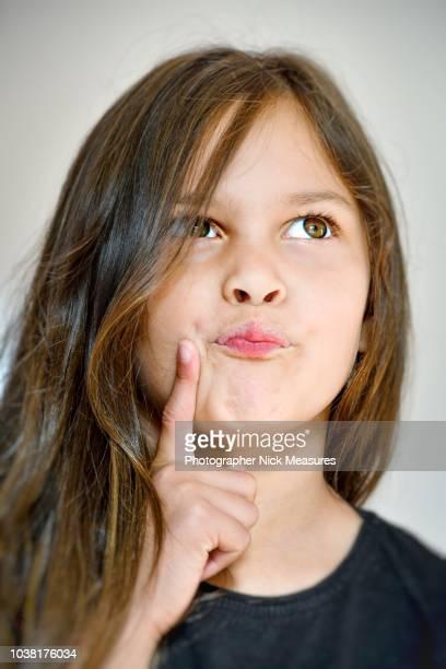 erm  - portrait of a six year old girl - 6 7 jahre stock-fotos und bilder