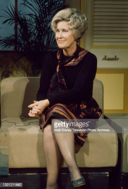 Erma Bombeck appearing on the ABC tv series 'Good Morning America'.
