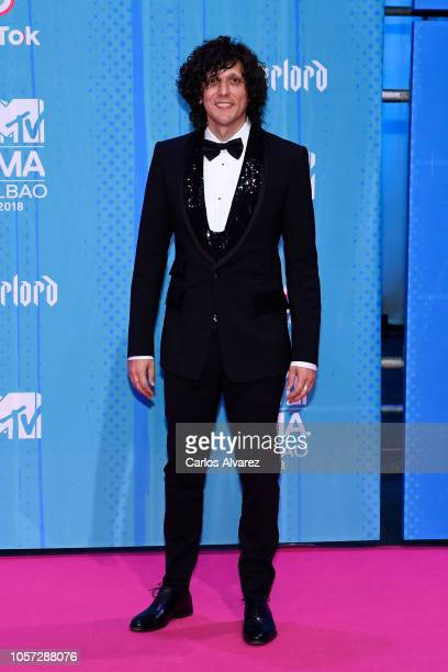 Ermal Meta attends the MTV EMAs 2018 at Bilbao Exhibition Centre on November 4 2018 in Bilbao Spain