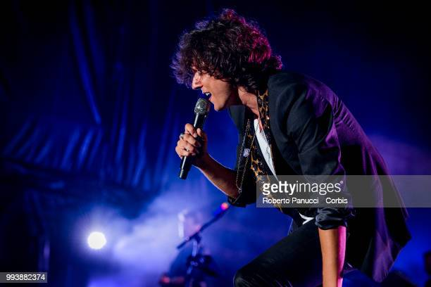 Ermal Meta perform on stage on July 5 2018 in Rome Italy