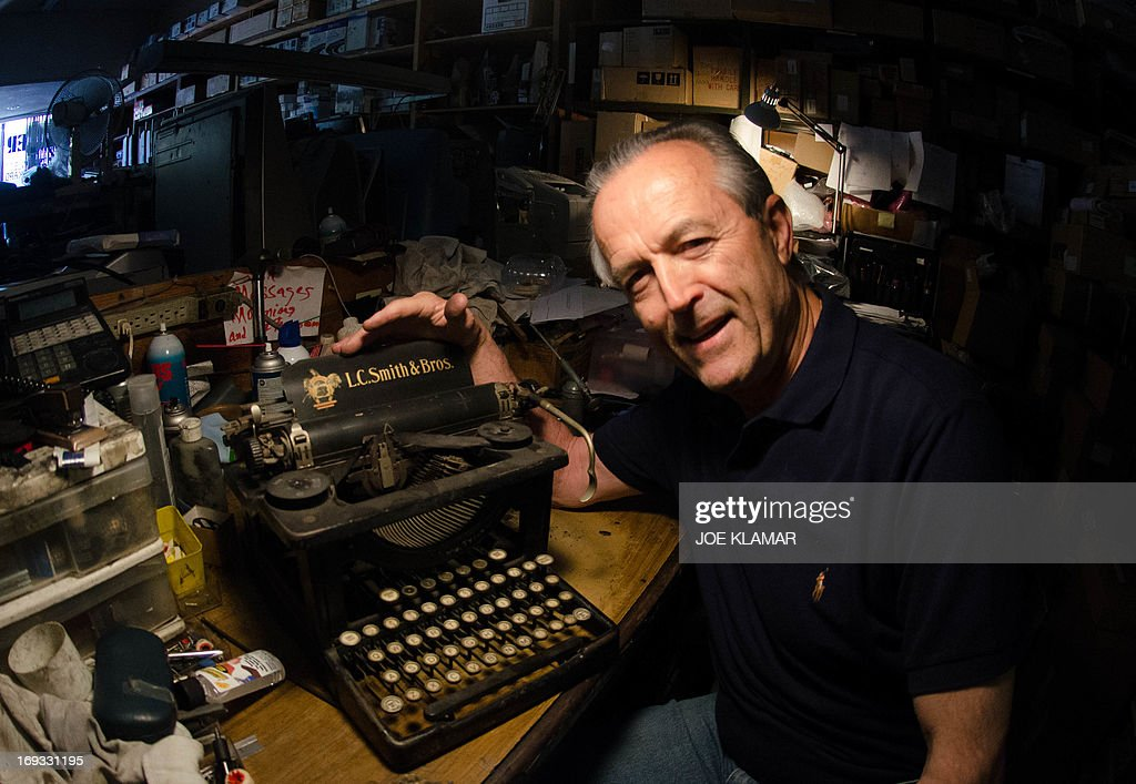 Ermanno Marzorati, owner of Star Office Machines speaks about antique typewriters in his Los Angeles, California shop on May 03, 2013. In his workshop, the 68 year old Italian, who has resided in Los Angeles since 1969, has restored typewriters belonging to such notables as Ian Fleming - the creator of James Bond - Tennessee Williams, Ray Bradbury, Ernest Hemingway, Orson Welles and John Lennon.