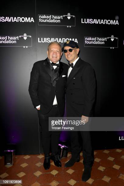 Ermanno Scervino and Andrea Panconesi attend LuisaViaRoma and Naked Heart Foundation Dinner on January 09 2019 in Florence Italy