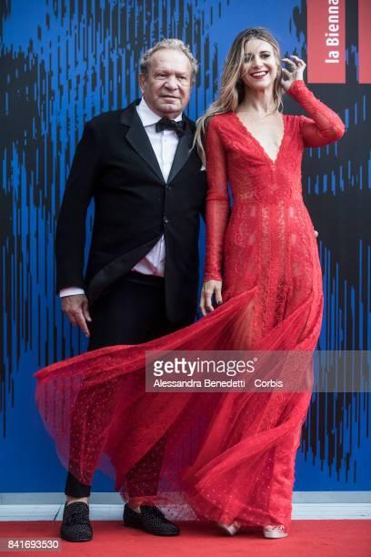 Ermanno Scervino and Nicoletta Romanoff attend the The Franca Sozzani Award during the 74th Venice Film Festival at Sala Giardino on September 1 2017...