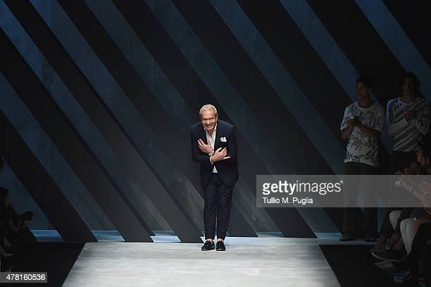 Ermanno Scervino walks after his fashion show as part of Milan Men's Fashion Week Spring/Summer 2016 on June 23, 2015 in Milan, Italy.