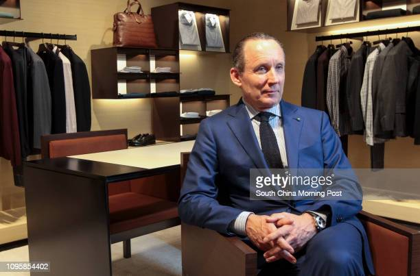 Ermenegildo Zegna chief executive of Zegna Group poses for a photograph at Zegna  store in Tsim 19520aeee89