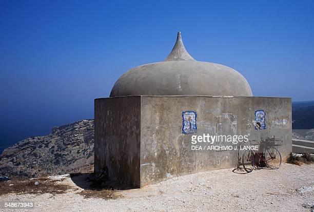 Ermida da Memoria chapel of Nossa Senhora do Cabo de Espichel sanctuary Historical Province of Extremadura Alentejo Portugal 18th century