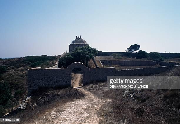 Ermida da Memoria chapel of the sanctuary of Nossa Senhora do Cabo de Espichel Historical Province of Extremadura Alentejo Portugal 18th century