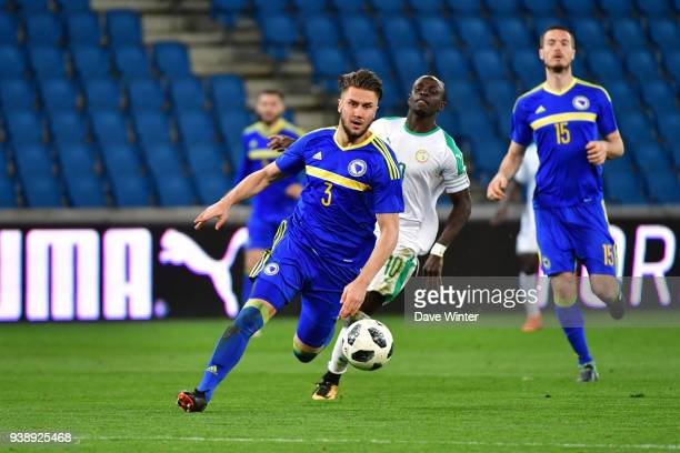 Ermin Bicakcic of Bosnia and Herzegovina during the international friendly match match between Senegal and Bosnia Herzegovina on March 27 2018 in Le...