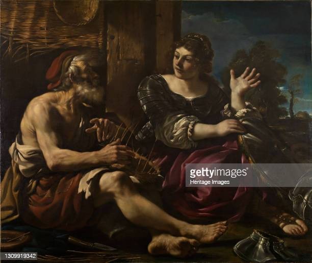 Erminia and the Shepherd, 1619-20. The scene is taken from Torquato Tasso's epic poem, La Gerusalemme Liberata published in 1575. Erminia, a pagan...