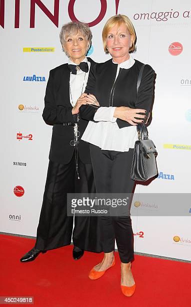 Erminia Ferrari and Catherine Spaak attend the Homage To Nino Manfredi photocall at Auditorium della Conciliazione on June 7 2014 in Rome Italy