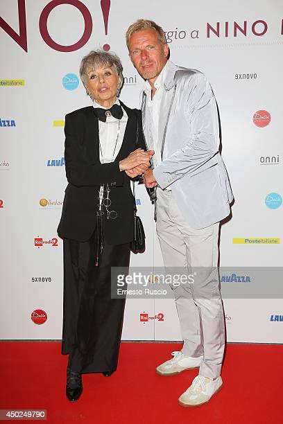 Erminia Ferrari and Kaspar Capparoni attend the Homage To Nino Manfredi photocall at Auditorium della Conciliazione on June 7 2014 in Rome Italy